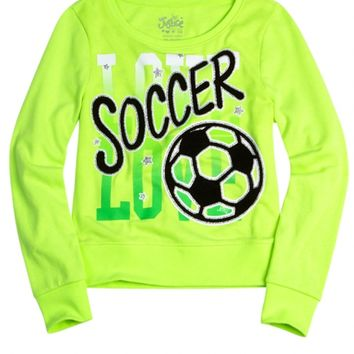 Sports Fleece Pullover Sweatshirt | Girls Sweatshirts Clothes | Shop Justice