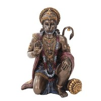 Hanuman Hindu Monkey Hero Giving Blessing Deity Statue 6H