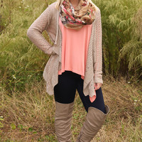Another Fall Night Cardigan: Taupe