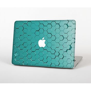The Teal Hexagon Pattern Skin Set for the Apple MacBook Air 13""