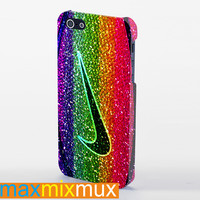 Nike Basketball On Sparkle Glitter iPhone 4/4S, 5/5S, 5C Series Full Wrap Case