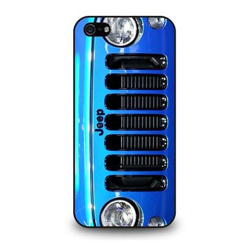JEEP WRANGLER POLAR FRONT BLUE iPhone 5 / 5S / SE Case