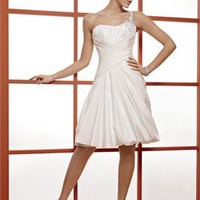 One-shoulder Short simple Wedding Dresses WDSP0022