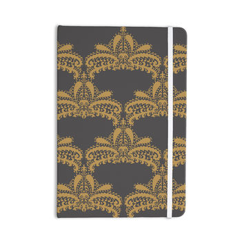 "Nandita Singh ""Decorative Motif Gold"" Copper Floral Everything Notebook"
