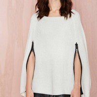 Nasty Gal Adorned Sweater Cape