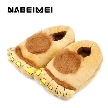 Bear funny slippers woman's warm shoes 2017 new arrival plush solid women indoor flat with winter shoes big size 36-43