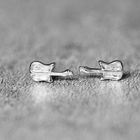 Tiny Guitar Earrings, Sterling Silver Guitar Stud Earrings, Music Earrings, Tiny  Earrings, cute Earrings, Guitar Jewelry, gifts for her