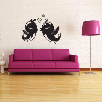 Vinyl Wall Decal Sticker Love Birds #1019