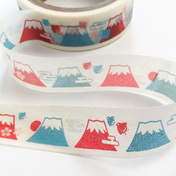 Sticky Washi Tape | Japan Adhesive Tape | Decorative Masking Tape | Scrapbooking Tools Favor Stationery | Fuji mountain 10m K01