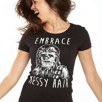 Star Wars Embrace Messy Hair Tee