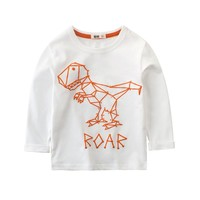 Boys t-shirt funny girls t shirt kid boy long sleeve tops Dinosaur tshirt clothing long sleeve top clothes kids Children t shirt