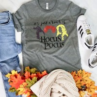 distracted - it's just a bunch of hocus pocus unisex graphic tee - heather grey
