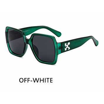 OFF-WHITE Tide brand personality pattern large frame men and women polarized sunglasses C2