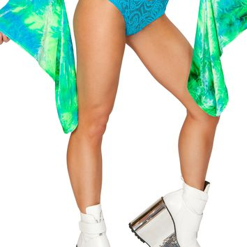 Turquoise Cyclone Mesh Shorts