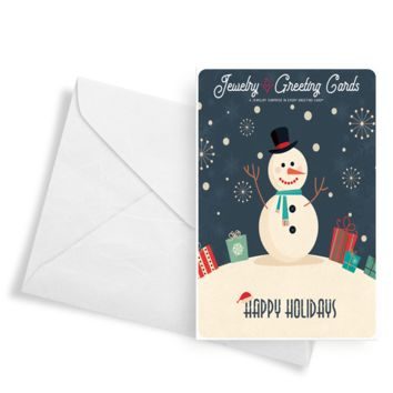 Happy Holidays (Snowman) | Jewelry Greeting Cards®