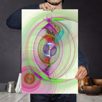 Vibrant Energy Wave Art Print - Color Therapy - Bohemian Wall Art, Digital Download   Psychedelic Apartment Wall Decor