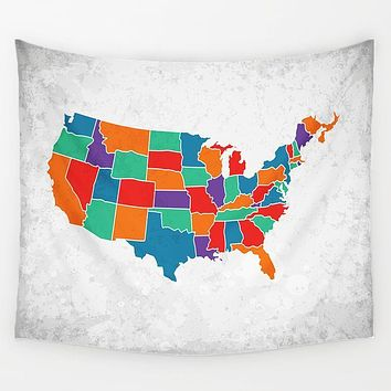 United States Map Tapestry