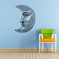 Moon Wall Decal Sun Crescent Ethnical Stars Symbol Wall Decals Vinyl Sticker Interior Home Decor Vinyl Art Wall Decor Bedroom SV5873