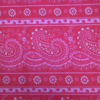 Cotton Quilting Fabric BY the YARD, Pink Paisley by Hamil Group, So Pretty