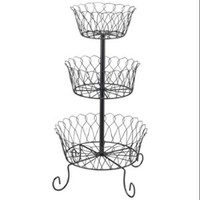 Walmart: Miles Kimball Black 3 Tier Fruit Basket