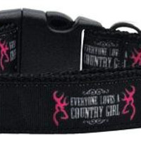 Country Girl Nylon Ribbon Dog Collars Large
