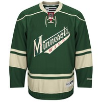 Minnesota Wild Reebok Premier Replica Alternate NHL Hockey Jersey