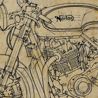 Personalized poster  8x11 with your own motorcycle handmade sketch, send a photo of your motorcycle