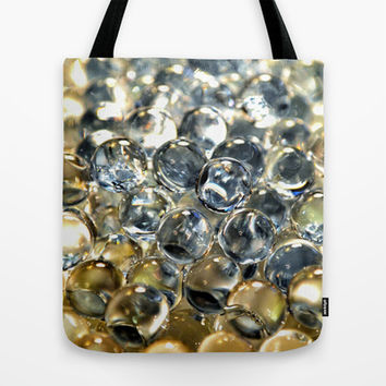 Silver Pearls Tote Bag by RichCaspian