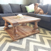 Custom Reclaimed Balustrade Coffee Table (Free pickup and discounted local delivery)