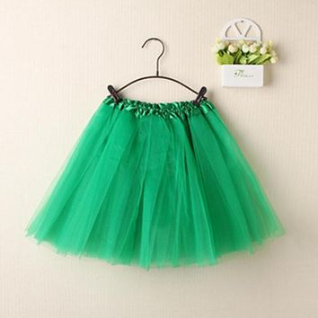 Womens Cute Bubble Skirts Mini Skirts Tutu Pettiskirt Dancewear Party Skirts