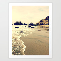 Glowing Beach Art Print by Emma.R