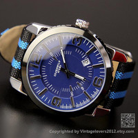 Men's Sports Wrist Watch - Boyfriend Birthday Gifts (WAT0116-BLUE)