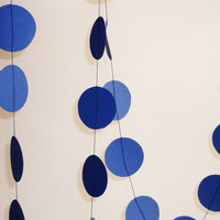 Dark blue paper garland