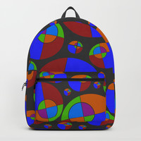 Bubble red & blue 09 Backpack by Zia