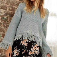 Somedays Lovin - Be Free Knit Jumper Sweater - Duckegg Blue