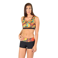 Katie Compression Shorts -Bird of Paradise