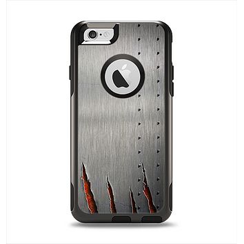 The Ripped Red-Core Metal Apple iPhone 6 Otterbox Commuter Case Skin Set