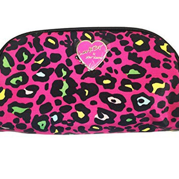 Betsey Johnson Cosmetic Makeup Bag (Pink Leopard)