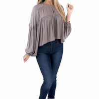Women's Balloon Sleeve Blouse