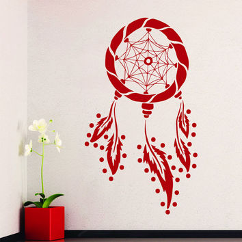 Dream Catcher Wall Decals Indian Amulet Art Design Feathers Home Interior Vinyl Decal Sticker Dorm Decal Mural Bedroom Wall Decor MR395