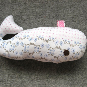 White whale. Stuffed animal. Soft pillow like toy.