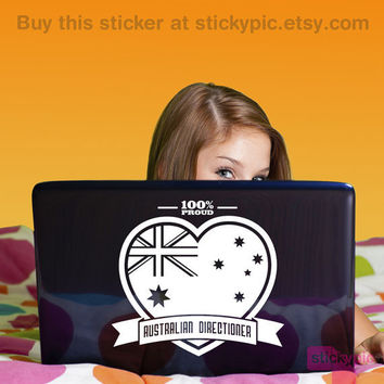 *NEW* Proud Australian Directioner Laptop/Wall Decal by stickypic