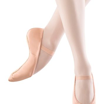 Bloch Adult  Leather Full Sole Ballet Shoes, Black, Pink