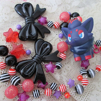 Pokémon Necklace - ZORUA - BANDAI Figure Necklace - Girly Gamer Gear