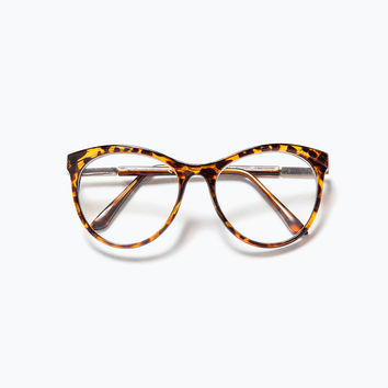 Tortoiseshell effect glasses