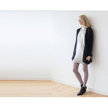 Black short Knitted Cardigan