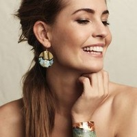 Sibilia Aleria Cuff in Turquoise Size: One Size Bracelets