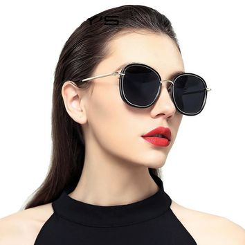 Women Polarized Sunglasses Fashion Sun Glasses Metal Temple 100% UV Protection