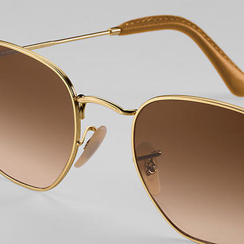 Ray-Ban HEXAGONAL @Collection RB3548N Bronze-Copper - Metal - Light Blue Lenses - 0RB3548N90353F51 | Ray-Ban® USA