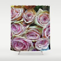 :: Rose is a Rose :: Shower Curtain by :: GaleStorm Artworks ::